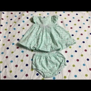 Little Me dress for girls size 6 Months
